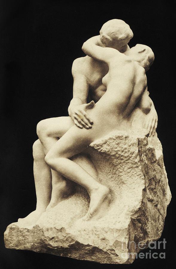 Auguste Rodin Sculpture - Auguste Rodin The Kiss, 1886 Marble Sculpture by Auguste Rodin