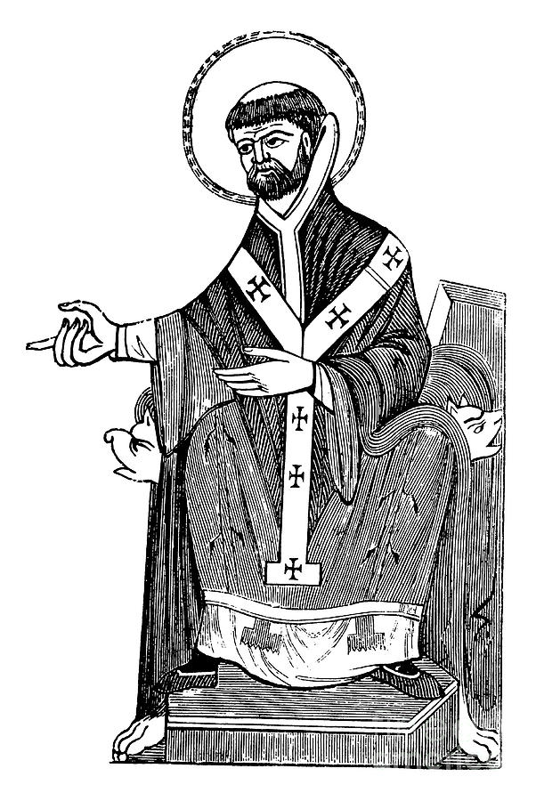 Saint Augustine Drawing - Augustine Of Hippo by English School