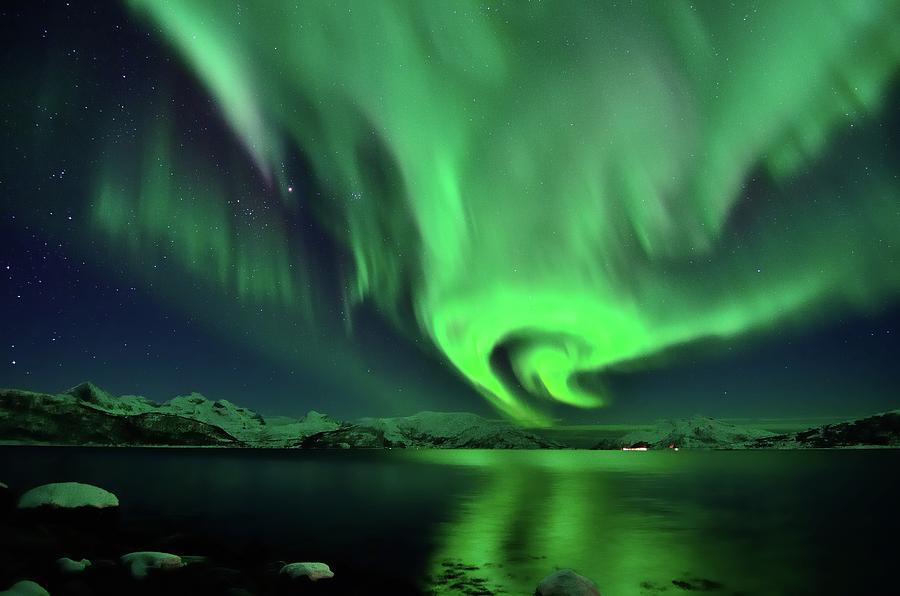 Aurora Borealis In Troms Photograph by John Hemmingsen