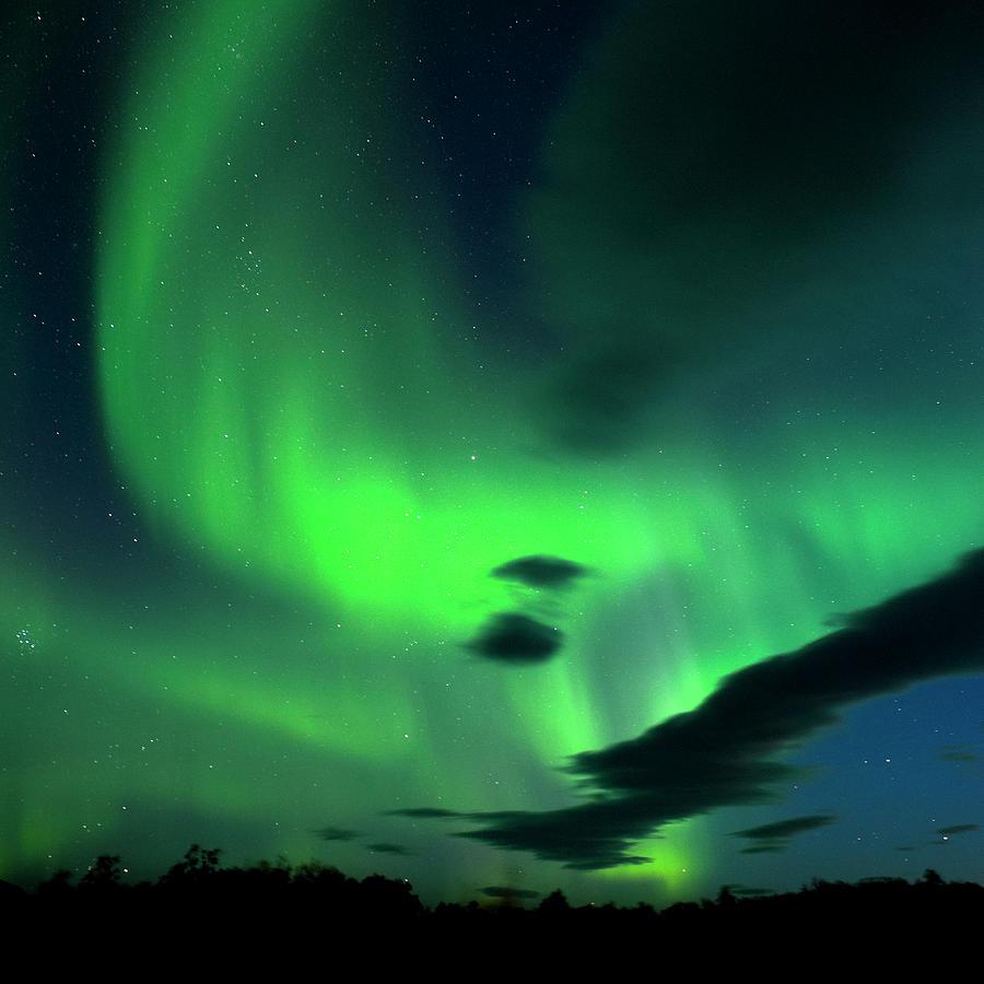 Aurora Borealis,iceland Photograph by Subtik