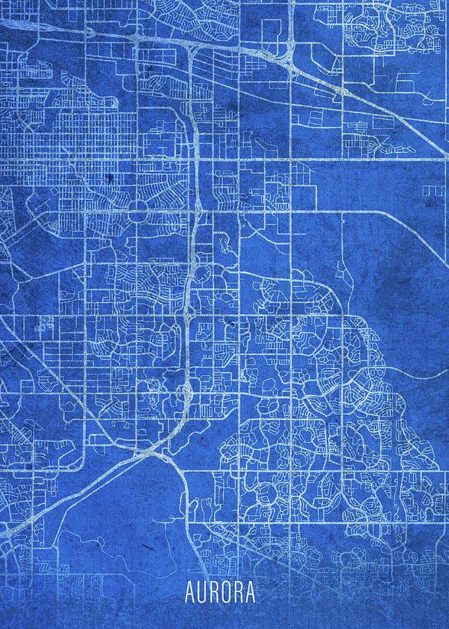 Aurora Colorado City Street Map Blueprints by Design Turnpike