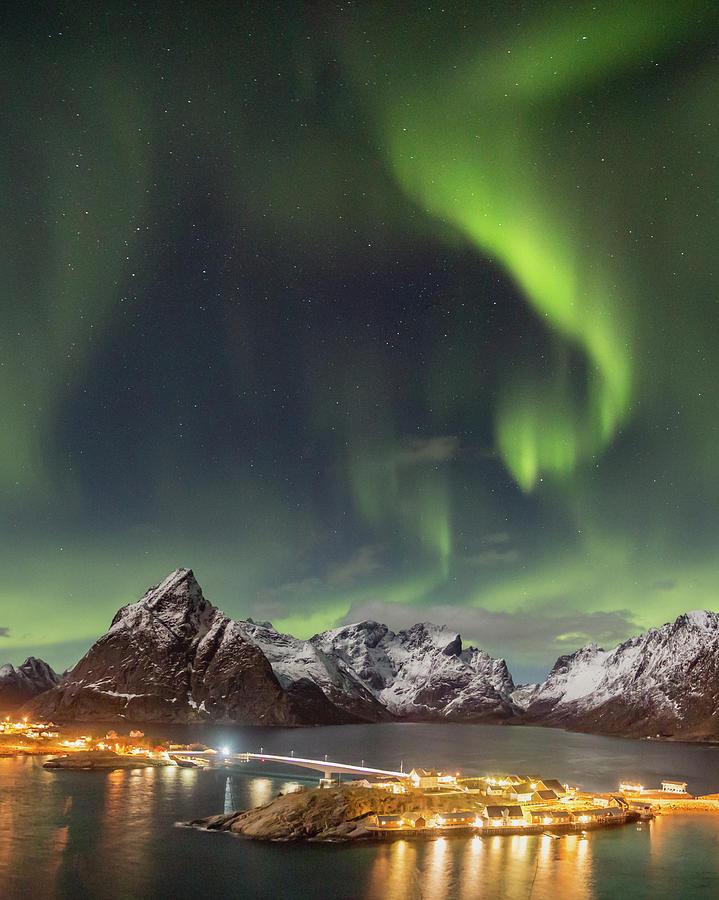 Aurora Photograph - Aurora In Lofoten by Alex Conu