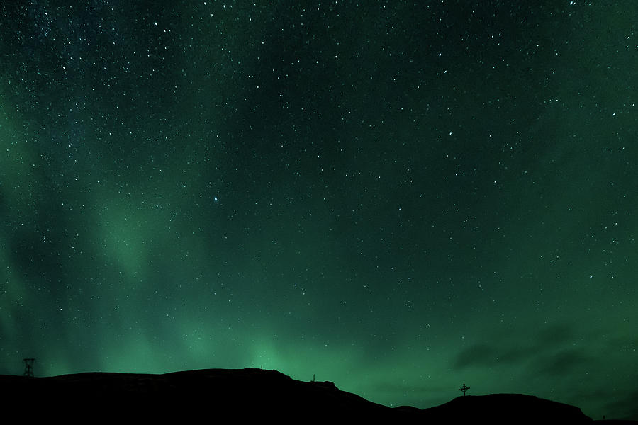 Iceland Photograph - Aurora Panorama by Framing Places