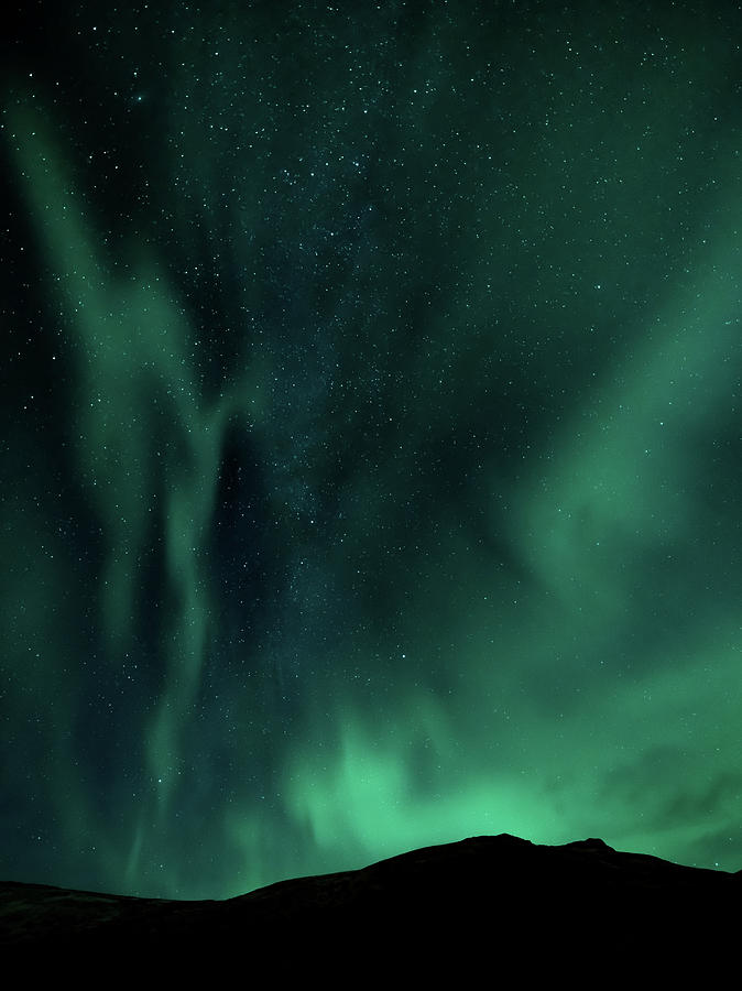 Iceland Photograph - Aurora Portrait #2 by Framing Places