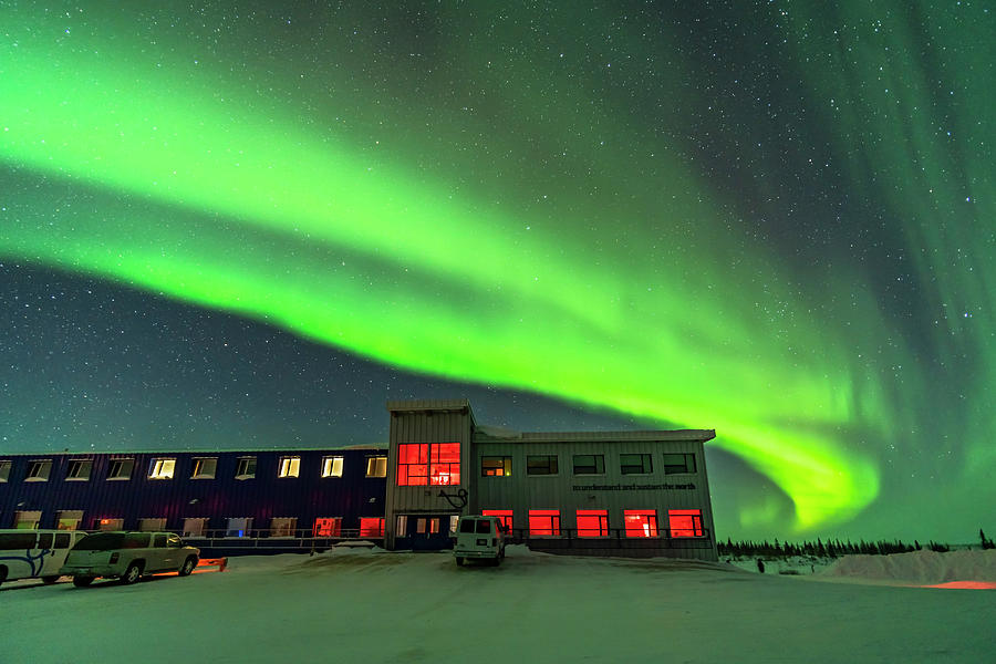 Auroral Arc Over The Northern Studies by Alan Dyer