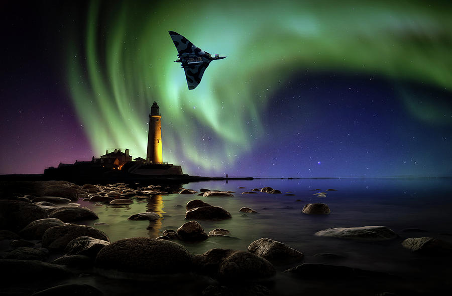 Vulcan Mixed Media - Auroral Splendour For The Vulcan by Smart Aviation