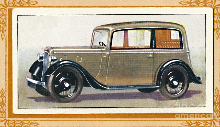 Austin Seven Ruby Saloon, C1936 Drawing by Print Collector