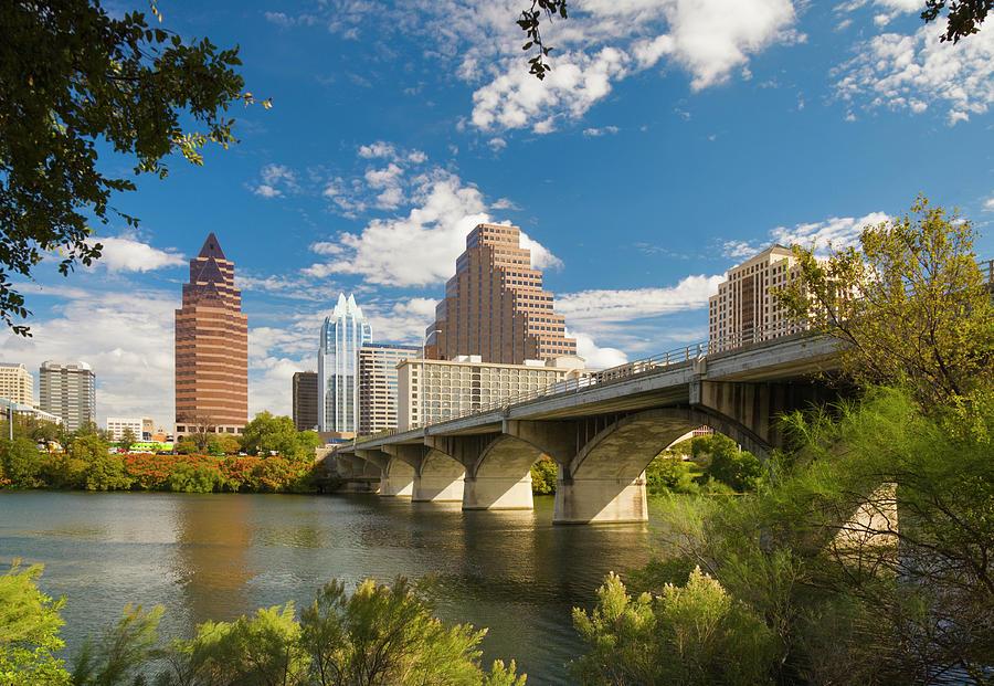 Austin Skyline Congress Avenue Bridge Photograph by Dszc