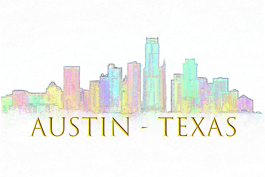 Austin Skyline by Renee Logan