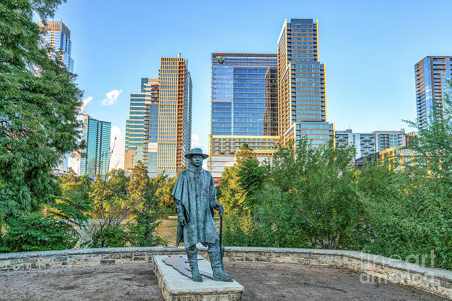 New Uploads Photograph - Austin Stevie Ray Vaughan Statue by Bee Creek Photography - Tod and Cynthia