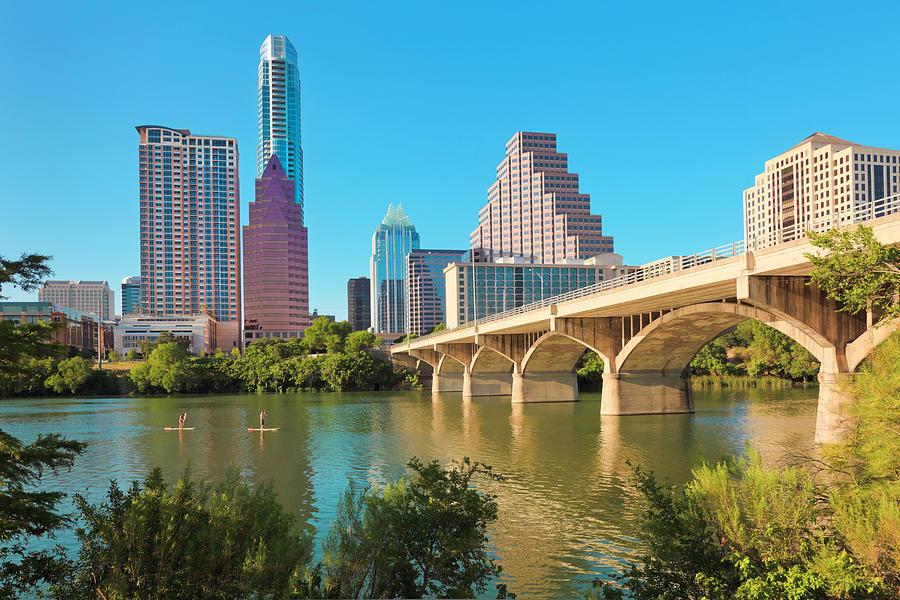 Austin Texas Cityscape Skyline Photograph by Dszc
