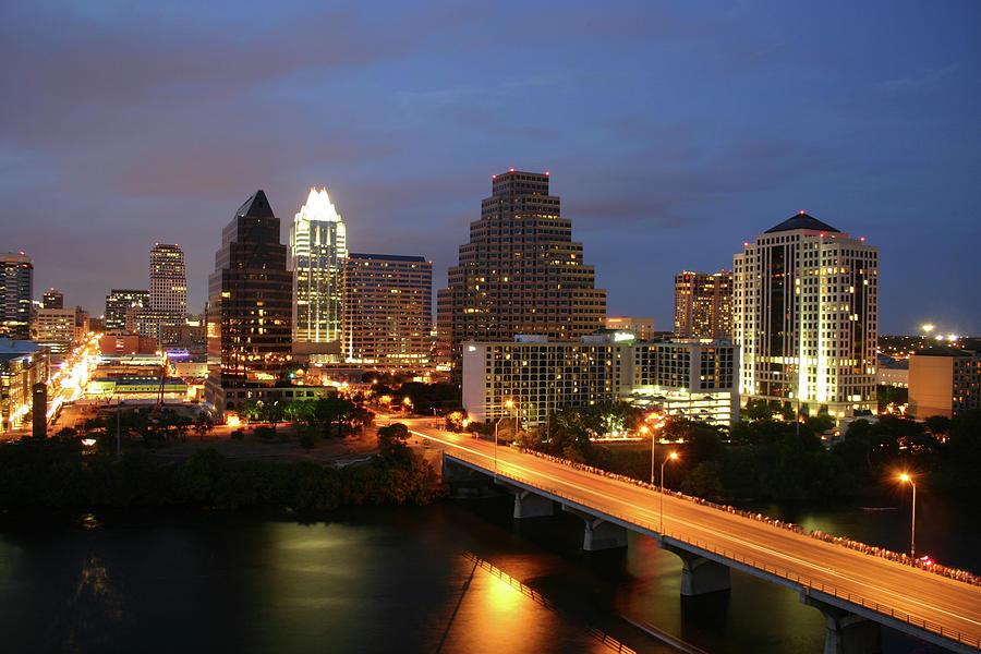 Austin Texas Skyline - Unique Photograph by Xjben