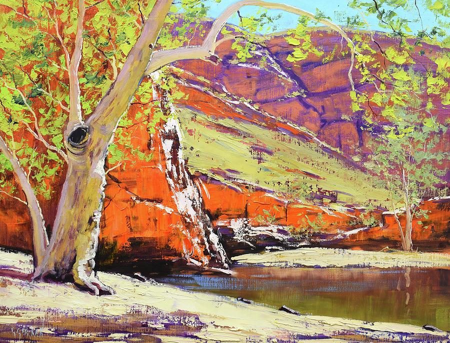 Australian Outback Gum Painting
