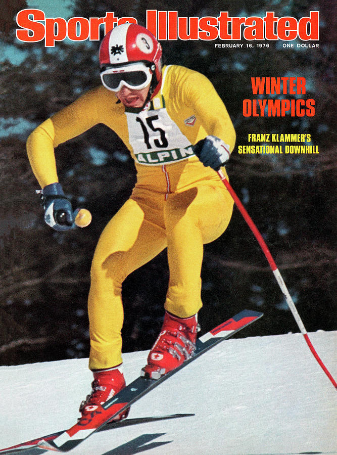 Austria Franz Klammer, 1976 Winter Olympics Sports Illustrated Cover Photograph by Sports Illustrated
