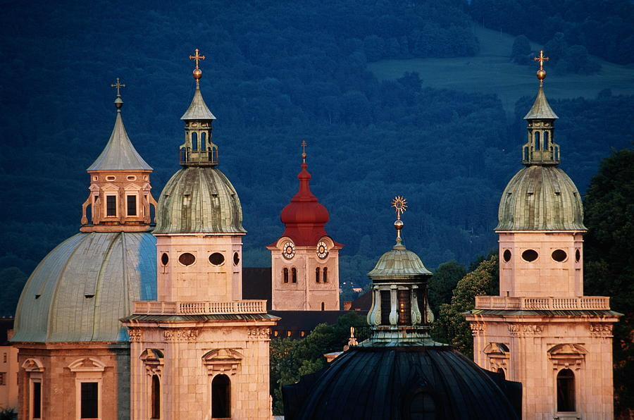Austria, Salzburg, Domes Of Cathedral Photograph by Travelpix Ltd