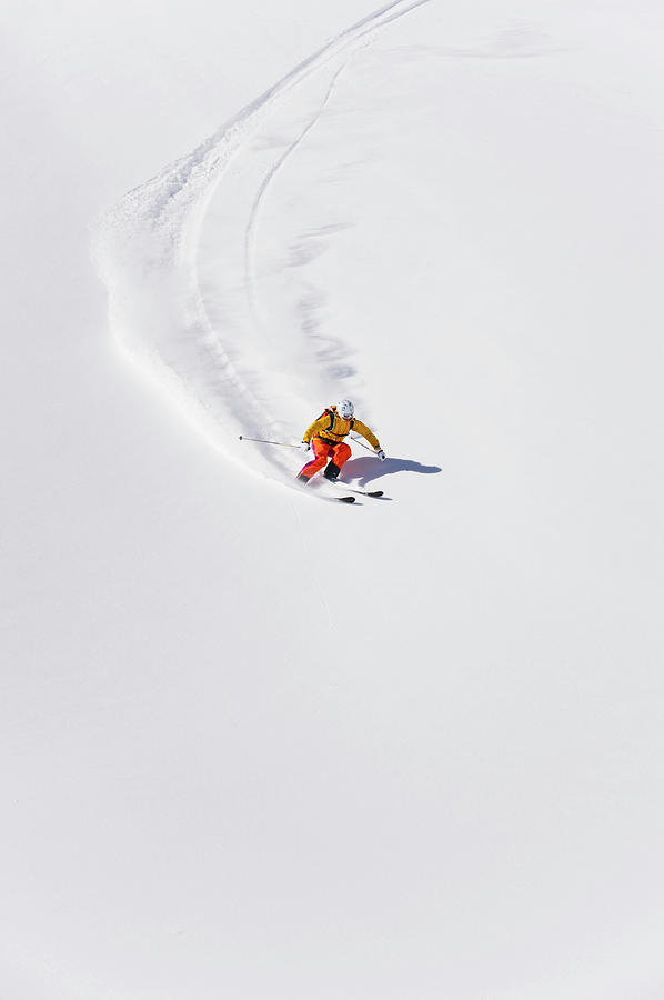 Austria, Young Woman Doing Alpine Skiing Photograph by Westend61
