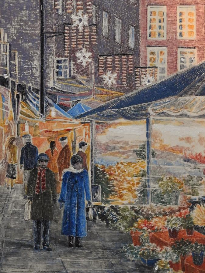 Austria Painting - Austrian Market by Kathy Gales