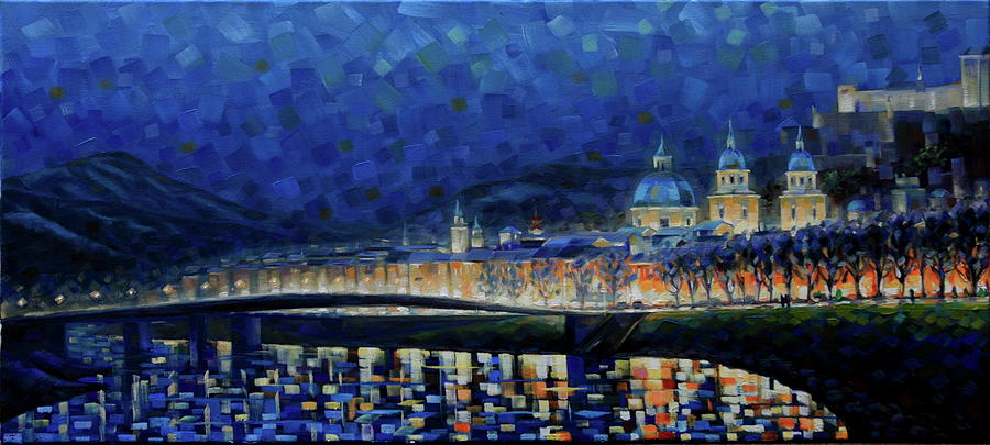 Salzburg Painting - Austrian Nights by Rob Buntin