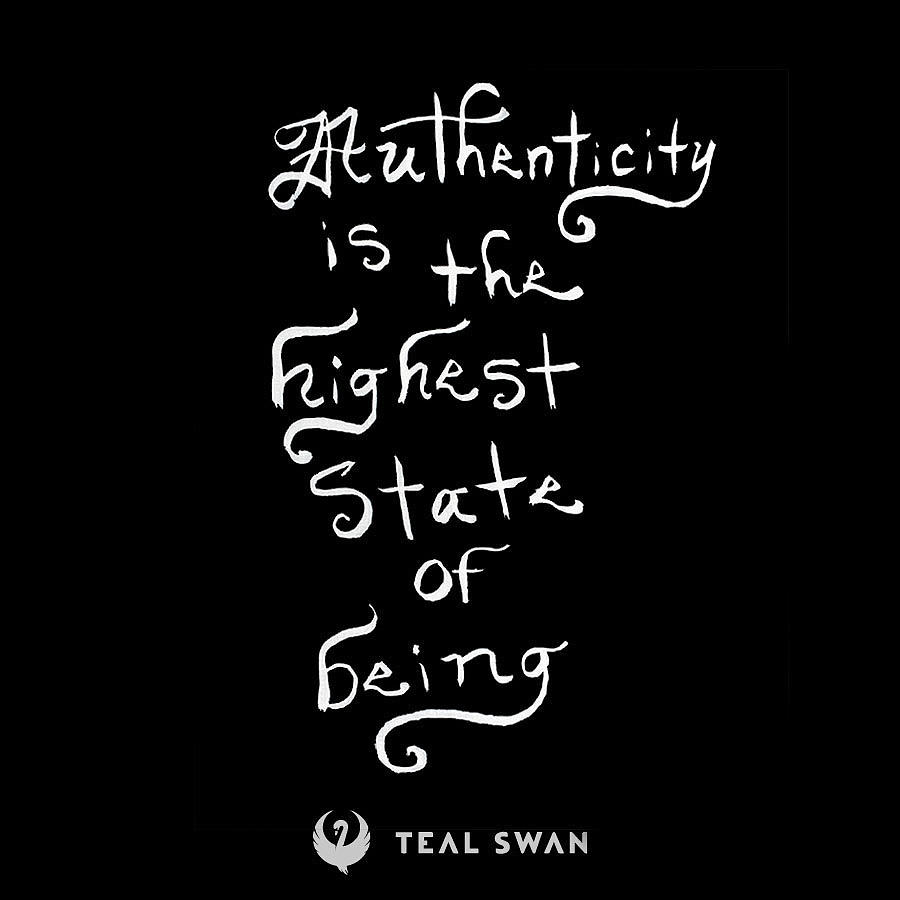 Authenticity Quote by Teal Eye Print Store