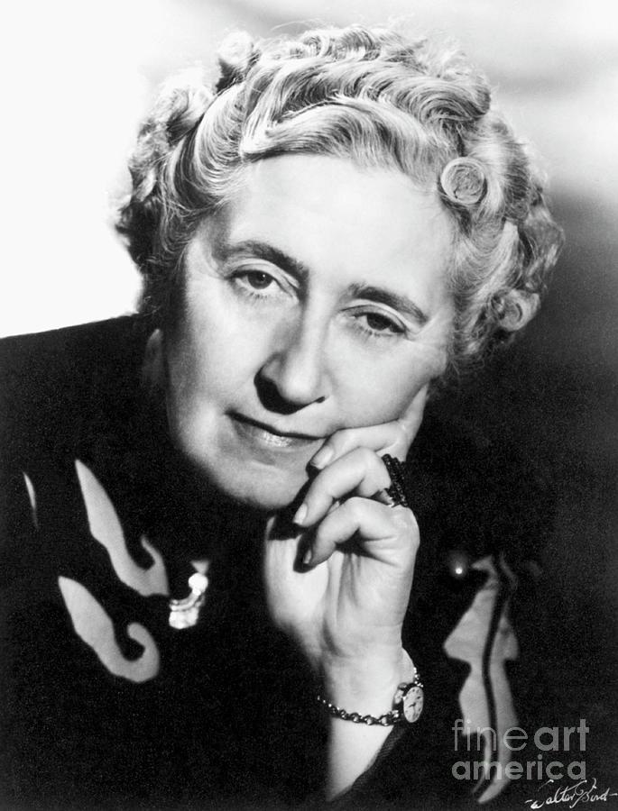 Author Agatha Christie Photograph by Bettmann