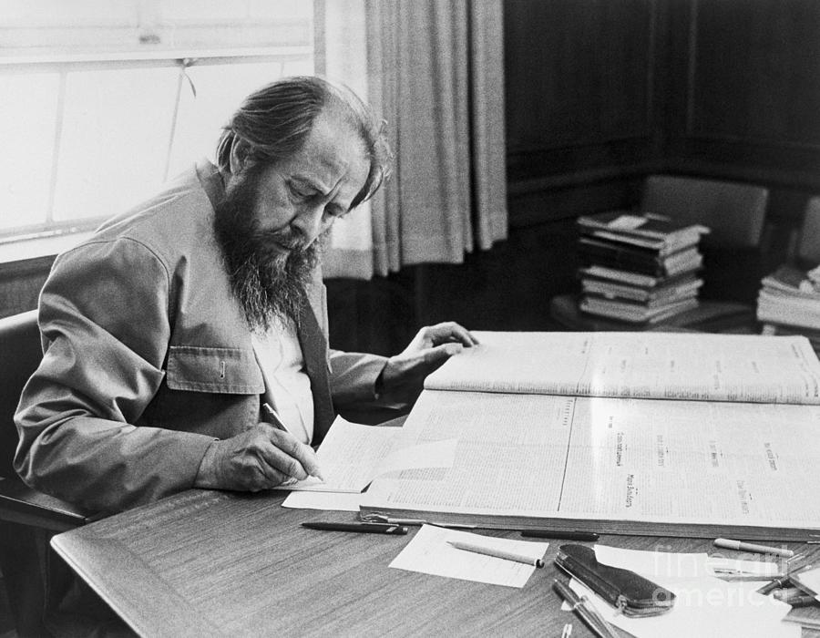 Author Aleksandr Solzhenitsyn Photograph by Bettmann