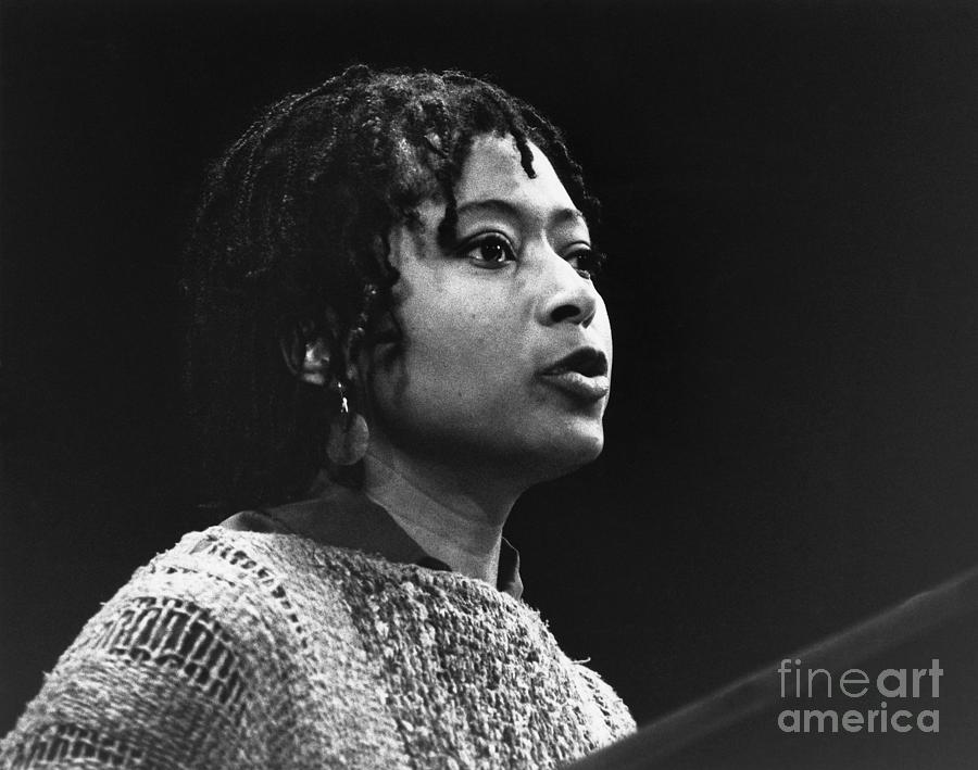 Author Alice Walker At A Poetry Reading Photograph by Bettmann