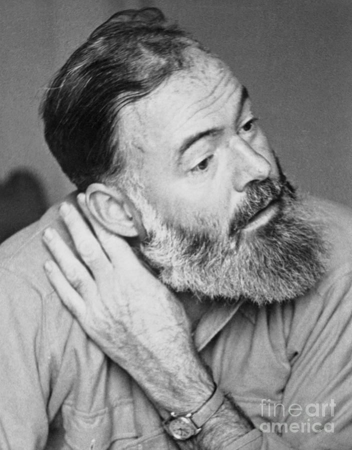 Author Ernest Hemingway Photograph by Bettmann