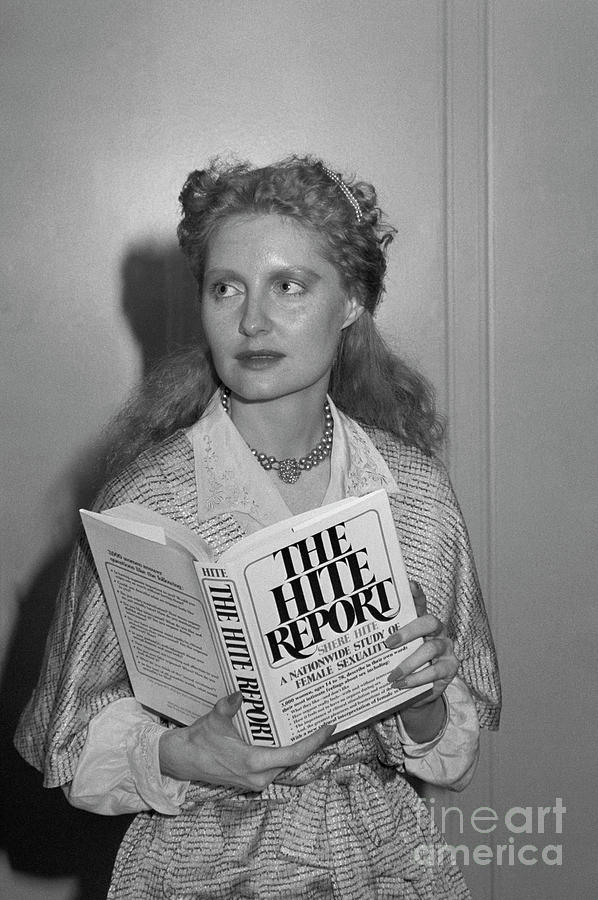Author Shere Hite Holding The Hite Photograph by Bettmann