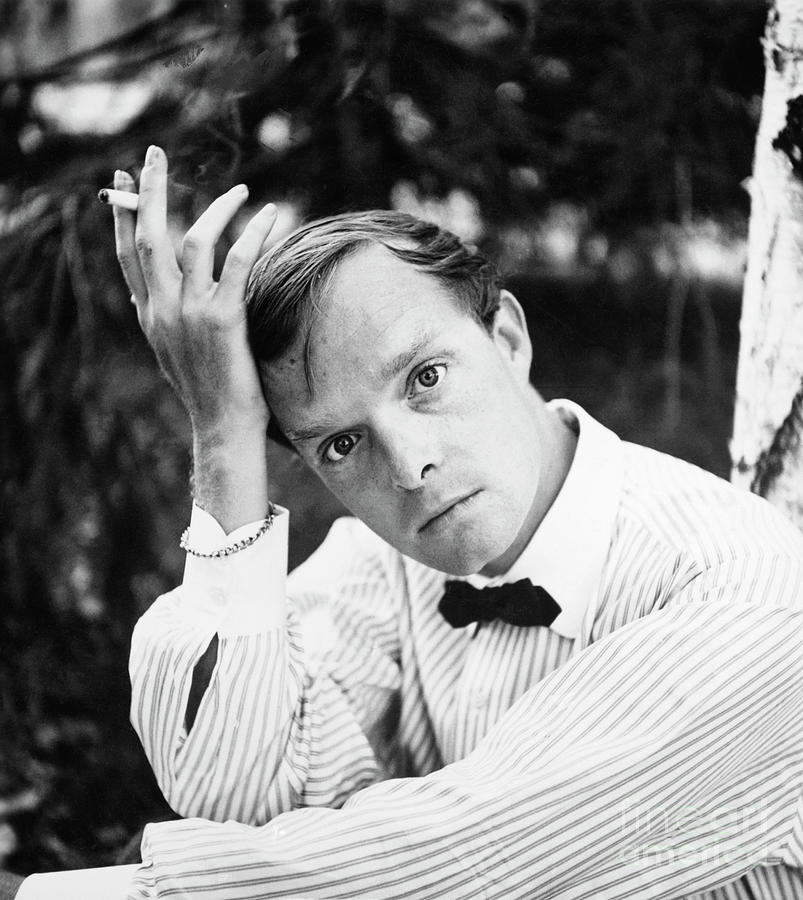 Author Truman Capote Posing Outdoors Photograph by Bettmann