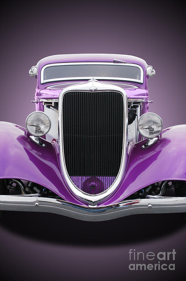 Auto Car - 1934 Ford Hot Rod Front Photograph by Stanrohrer