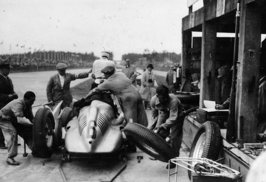 Auto Union In The Pits During A Grand Photograph by Heritage Images