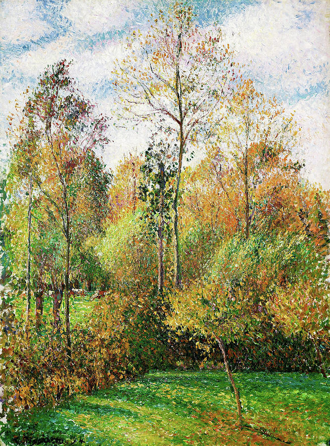 Camille Pissarro Painting - Automne, Peupliers, Eragny - Digital Remastered Edition by Camille Pissarro