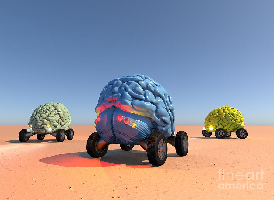 Autonomous Robot Cars by Russell Kightley
