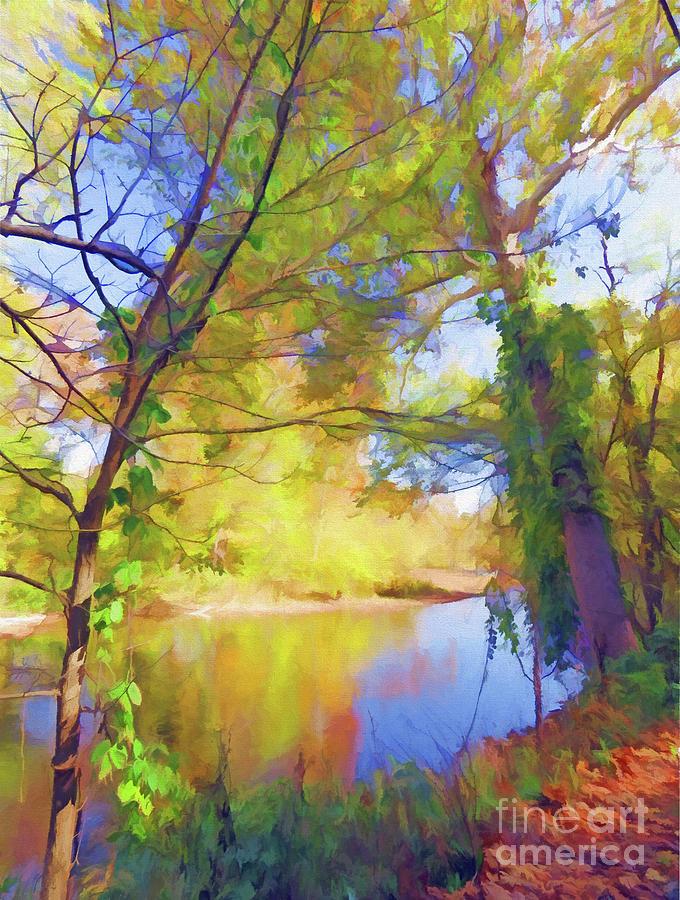 Autumn Along The Greenbrier River  by Kerri Farley