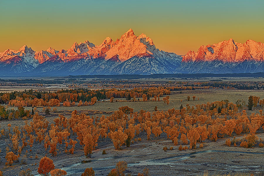 Autumn Alpenglow Above Spread Creek by Greg Norrell