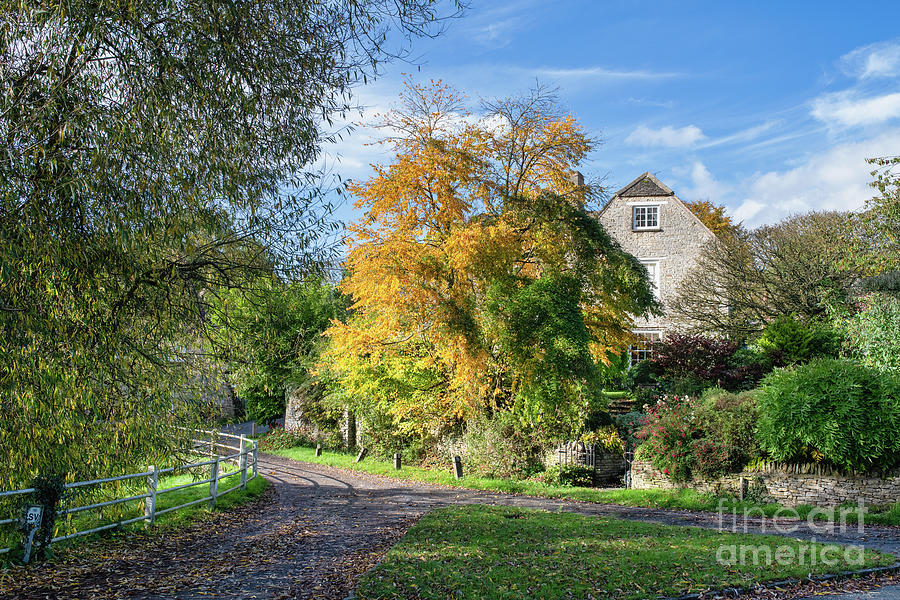 Autumn Arriving in the English Village of Wootton by Tim Gainey