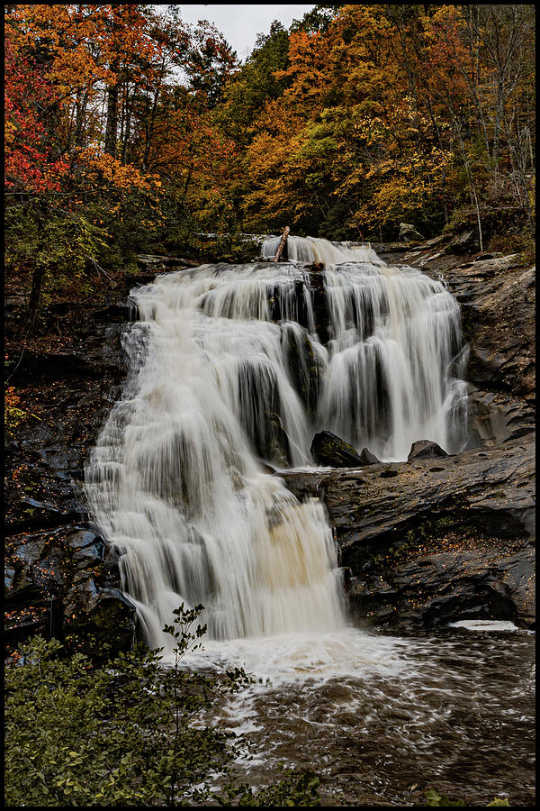 Autumn at Bald River Falls by Kelly Kennon