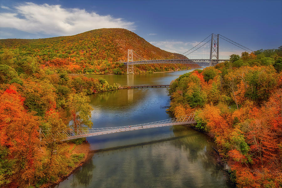 Autumn At Bear Mountain Bridge  by Susan Candelario