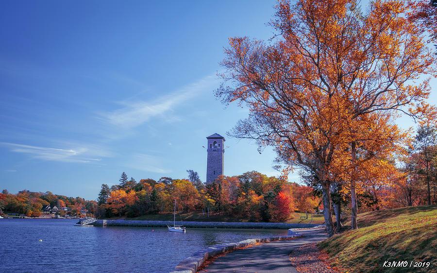 Architecture Digital Art - Autumn At Dingle Tower by Ken Morris