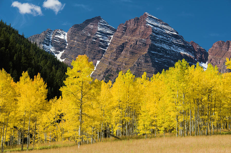 Autumn At Maroon Bells Mountains Photograph by Robert Cable