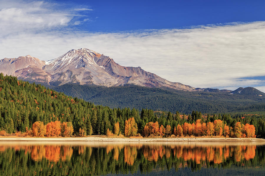 Autumn At Mount Shasta by James Eddy