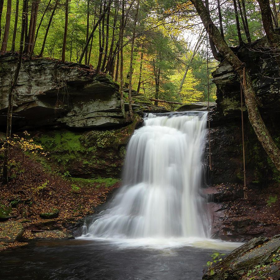 Autumn At Sullivan Falls by Rusty Glessner