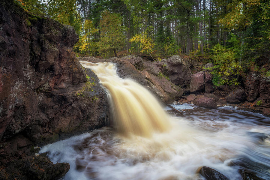 Autumn at the Amnicon River Upper Falls by Susan Rissi Tregoning