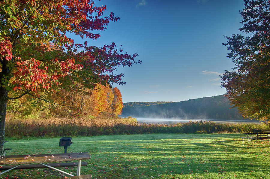 Autumn at the Lake by Crystal Wightman