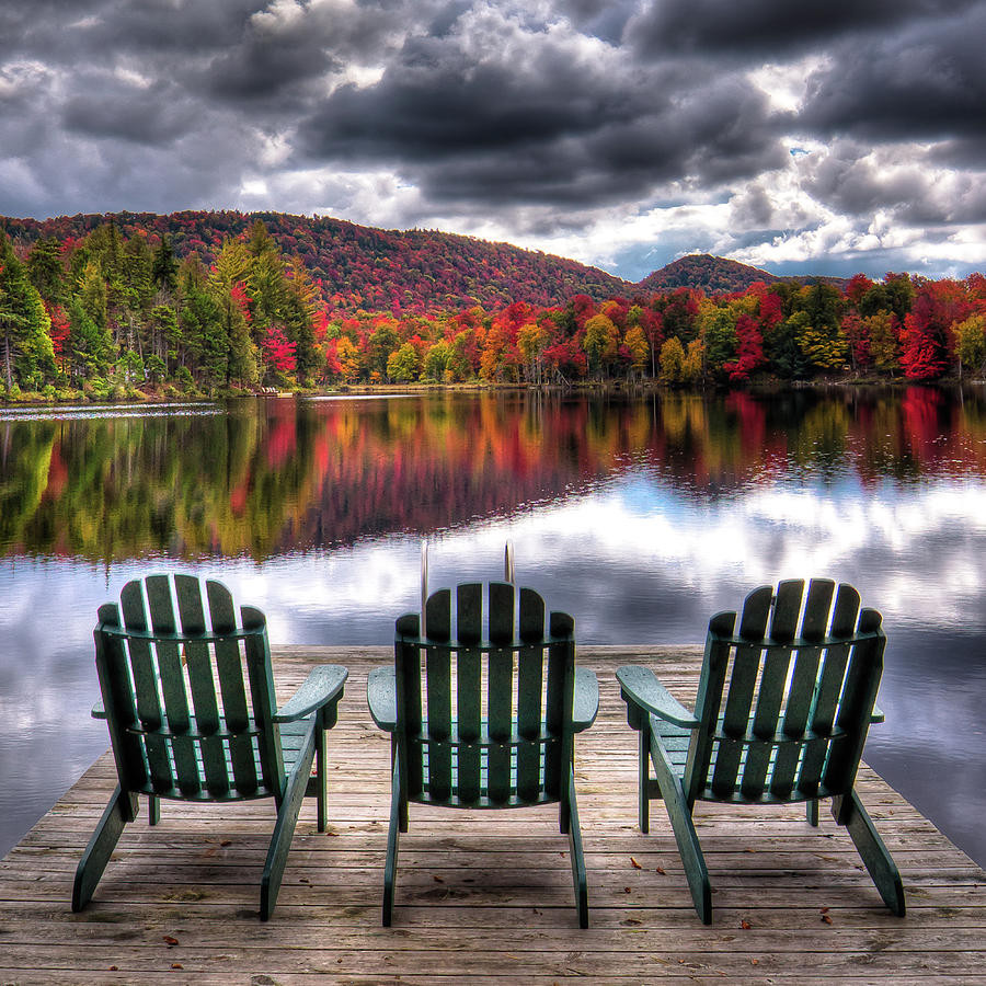 Autumn at the Lake by David Patterson