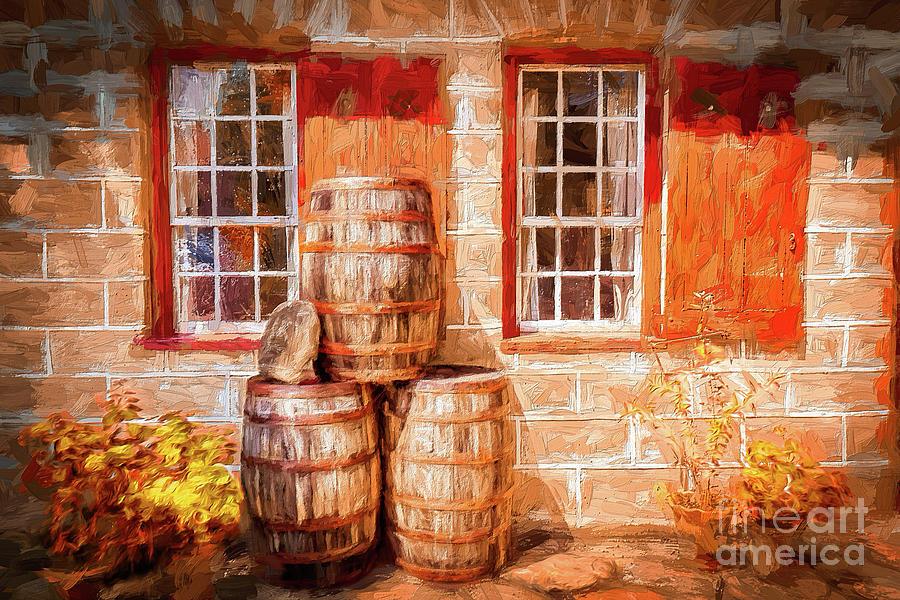Autumn at the Old Salem Mercantile Store AP by Dan Carmichael