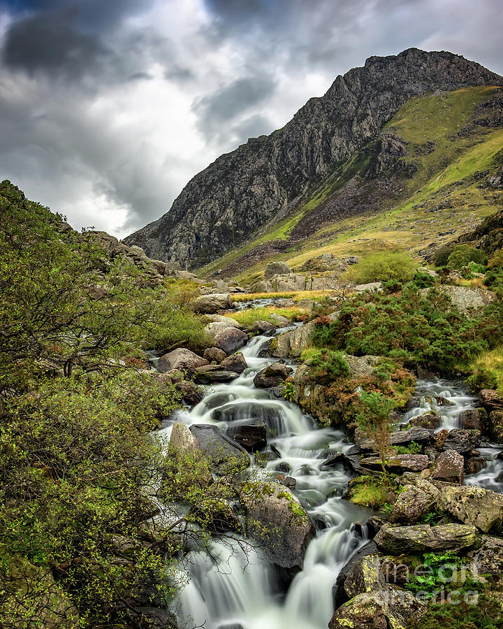 Autumn at Tryfan and Ogwen River by Adrian Evans