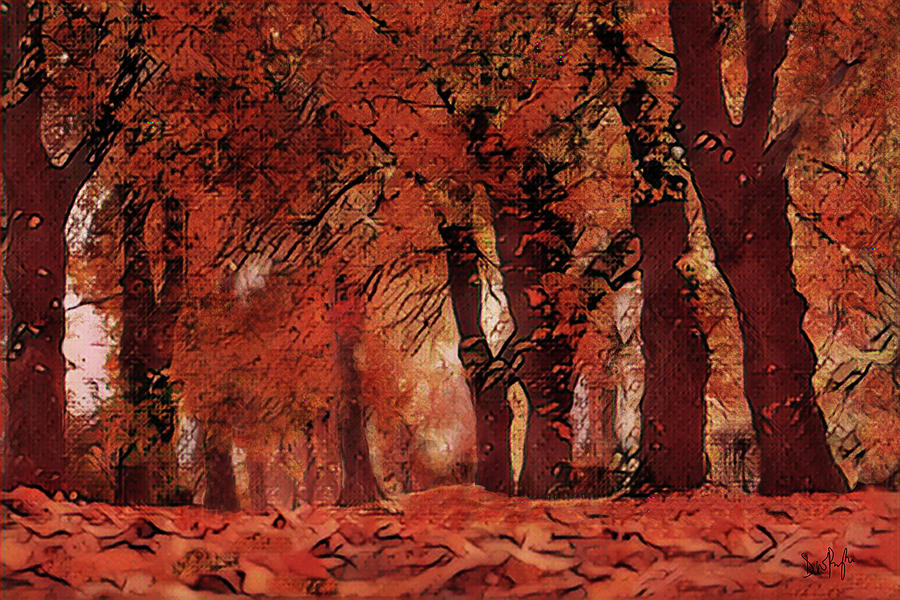 Autumn Avenue by Digital Painting