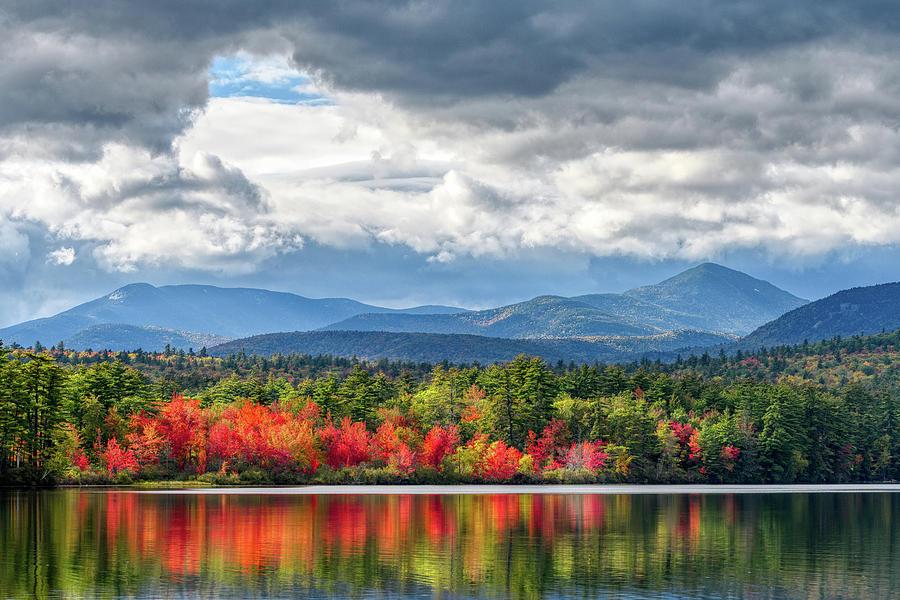 Autumn Blaze, Chocorua Lake NH by Michael Hubley