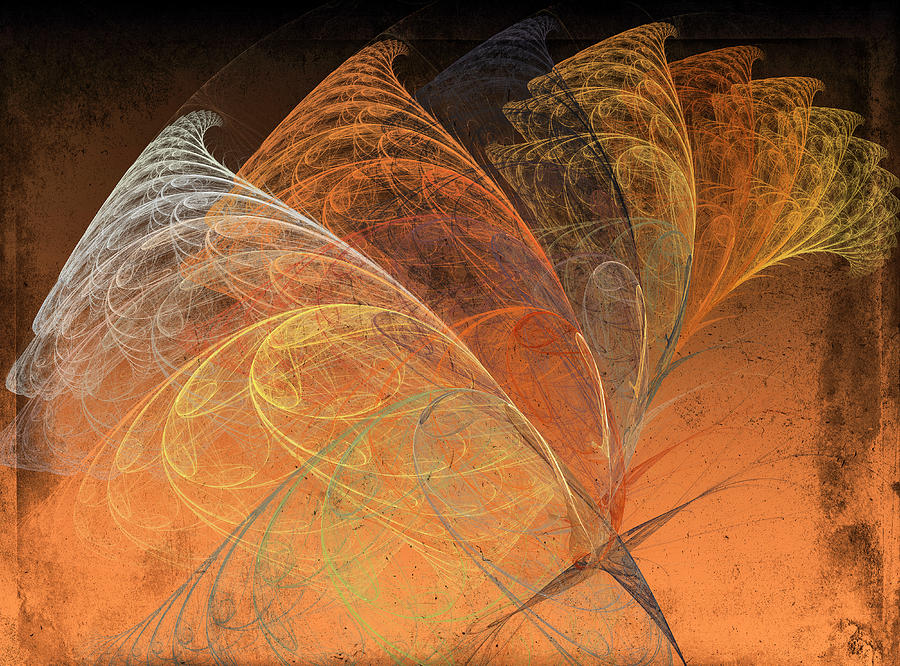Autumn Breeze Fractal Digital Art